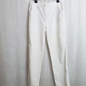 St. John Sport White Jeans Size 12 Zipper Closure